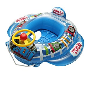 billiga Uppblåsbara badringar och badmadrasser-Uppblåsbara badflottar Badringar med donut-form Badringar Uppblåsbar pool PVC Sommar Fågel Pool Suitable for 1-6 Years Babies Barn