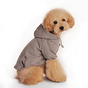 cheap Dog Clothes-pet dog clothes puppy hoodie warm sweatshirt hooded coat for winter & #40;gray, s& #41;