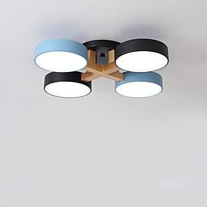 cheap Dimmable Ceiling Lights-4-Light 62 cm Cluster Design Flush Mount Lights Acrylic Modern 110-120V 220-240V