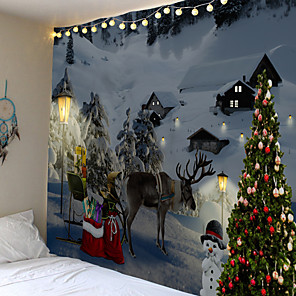 cheap Abstract Paintings-Christmas Weihnachten Santa Claus Wall Tapestry Art Decor Blanket Curtain Picnic Tablecloth Hanging Home Bedroom Living Room Dorm Decoration Elk Snow Snowman Christmas Tree Polyester