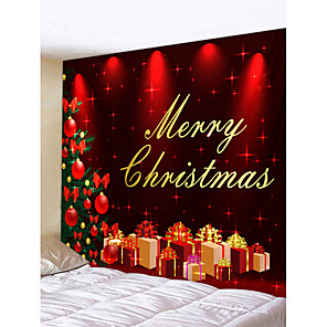 cheap Animal Paintings-Christmas Weihnachten Santa Claus Wall Tapestry Art Decor Blanket Curtain Picnic Tablecloth Hanging Home Bedroom Living Room Dorm Decoration Merry Christmas Tree Gift Polyester