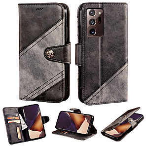 cheap Other Phone Case-Case For Samsung Galaxy Galaxy A10 A30 A40 A50 A60 A70 A90 Wallet Card Holder Full Body Cases Solid Colored PU Leather