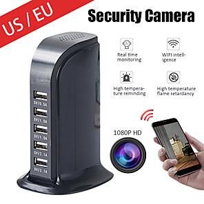 cheap Indoor IP Network Cameras-Spy Camera Wireless Hidden Camera 1080P HD WiFi USB Charger Camera 5 Port Plug Security Camera Security Surveillance Camera