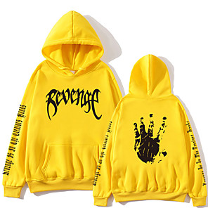 cheap Everyday Cosplay Anime Hoodies & T-Shirts-Inspired by Cosplay xxxtentacion Cosplay Costume Hoodie Polyster Print Printing Hoodie For Men's / Women's