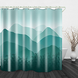 cheap Shower Curtains-Congshan Junling Shower Curtains & Hooks Modern Polyester New Design
