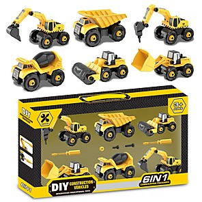 cheap Building Blocks-Toy Car Pull Back Car / Inertia Car Excavating Machinery Extra Large Iron for Unisex Boys'