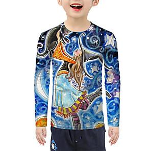 cheap Boys' Clothing Sets-Kids Boys' Active Basic 3D Long Sleeve Tee Blue