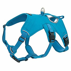 cheap Dog Collars, Harnesses & Leashes-voyager padded & breathable control dog walking harness for big/active dogs, (turquoise, medium)