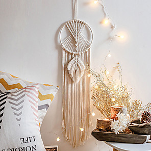 cheap Dreamcatcher-Macrame Wall Gift Hanging Bohemian Handmade Woven Art Decor Home Living Room Dorm Decorationcotton rope