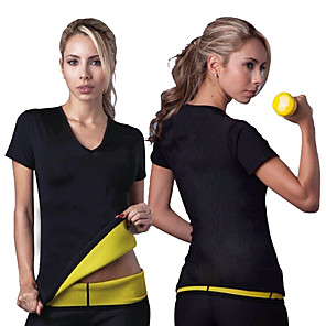 cheap Fitness Gear & Accessories-Hot Sweat Workout Tank Top Slimming Vest Sports Neoprene Yoga Gym Workout Exercise & Fitness Stretchy Strength Training Tummy Control Sweat Control Fat Burner For Women