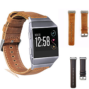 cheap Smartwatch Bands-Leather Watch Band for Fitbit Ionic Replaceable Bracelet Wrist Strap Wristband