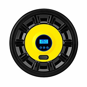 billiga Uppblåsbar pump-12v bärbar däckluftpump digital display / pekarkompressorinflator w / led-lampor