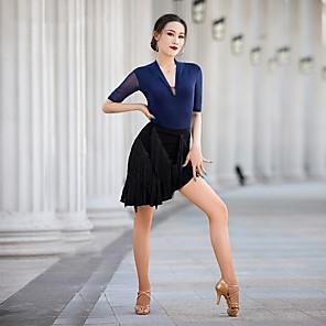 cheap Latin Dancewear-Latin Dance Skirts Tassel Women's Performance Natural Crystal Cotton