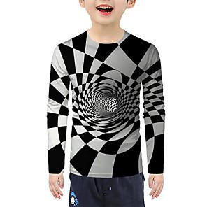 cheap Christmas Decorations-Kids Boys' Active Basic 3D Print Long Sleeve Blouse Rainbow