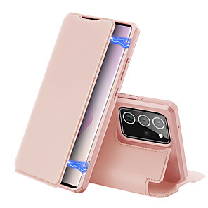 cheap Samsung Case-Case For Samsung Galaxy S10 A41 A71 5G note 20 note 20 ultra A51 5G Card Holder Back Cover Solid Colored PU Leather TPU shockproof