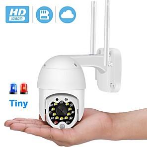 cheap Outdoor IP Network Cameras-BESDER 1080P Mini PTZ WiFi Camera Auto Tracking 4X Zoom 2MP Wireless IP Camera Cloud-SD Card Motion Detection Audio CCTV Camera