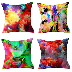 cheap Smartwatches-Set Of 4 Cushion Cover Tie-dye Technology waist Pillows cover Polyester Plush Home Decors Pillowcases 45*45cm