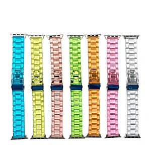 cheap Smartwatch Bands-Transparent jelly ice resin strap For Apple Watch Series 5/4/3/2/1 Strap Bracelet For iWatch 38mm/40mm/42mm/44mm Watchband Accessories