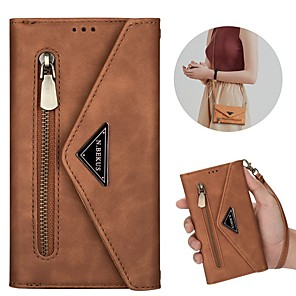 cheap iPhone Cases-Case For Samsung Galaxy S20 Ultra S10E S9 Plus S8 S7 Edge A51 5G A71 5G A21S Wallet Card Holder with Stand Full Body Cases Solid Colored PU Leather