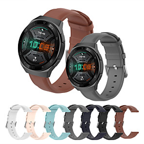 cheap Smartwatch Bands-Soft Leather Watch Band for Huawei Watch GT 2e / GT2 46mm / GT2 42mm / Honor Magic Watch 2 46mm 42mm / GT Active / Watch 2 / Watch 2 Pro Replaceable Bracelet Wrist Strap Wristband
