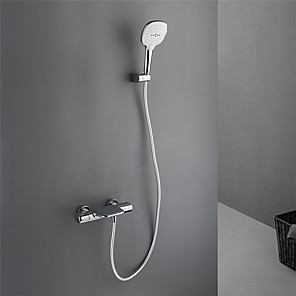 cheap Hand Shower-Bathtub Faucet - Contemporary Painted Finishes Wall Mounted Ceramic Valve Bath Shower Mixer Taps