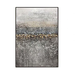 cheap Abstract Paintings-handmade Home decoration Modern abstract Gold oil painting hand painted canvas painting home decor wall art picture for room decor Rolled Without Frame