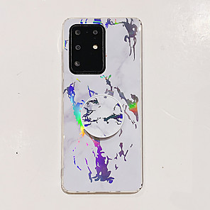 cheap Samsung Case-Case For Samsung Galaxy S7 S7 Edge S8 S8 Plus S9 S9 Plus Note 8 Note 9 S20 S20 Plus S20 Ultra S10 S10 Plus S10e with Stand Pattern Back Cover Marble TPU