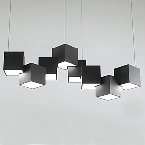 cheap Cluster Design-8-Light 90 cm Single Design Pendant Light Metal Modern 110-120V 220-240V