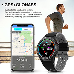 cheap Smartwatches-M6 GPS Smart Watch Men 1.3 inch 360mAh Bluetoot Call PPG Compass Barometer Geomagnetic induction Gyro Outdoor Smartwatch