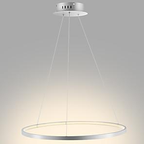 cheap Pendant Lights-1-Light 60(24'') LED Pendant Light Metal Acrylic Circle Chrome Modern Contemporary 110-120V 220-240V