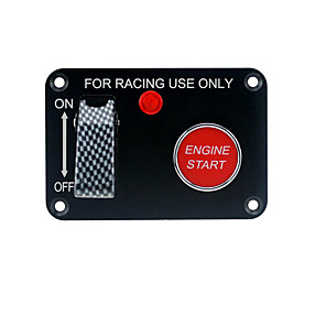 cheap Car Headlights-12V car racing two sets of toggle switches panel 1 carbon fiber 1 ignition switch (with light)