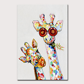 tanie Obrazy: motyw zwierzęcy-Mintura duży rozmiar ręcznie malowane abstrakcyjne żyrafa zwierzęta obraz olejny na płótnie pop art nowoczesne obrazy ścienne do dekoracji wnętrz nie oprawione