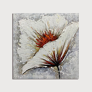 cheap Abstract Paintings-Oil Painting Paint Handmade Abstract Flower Canvas Art Modern Art with Stretcher Ready to Hang With Stretched Frame