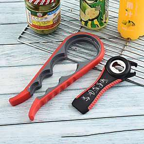 cheap Kitchen Utensils & Gadgets-Multi-function Stainless Steel Plastic Bottle Opener Non-Slip Cap Grip Beer Lid Twist Off Jar Can Opener for Kitchen Cans
