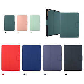 cheap iPad case-Case For Apple iPad Mini 1 2 3 4 5 Shockproof Flip Full Body Cases  PU Leather TPU with pencil holder Solid Colored Auto Sleep Wake Up magnetic buckle