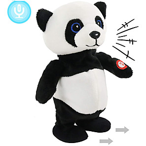 cheap Stuffed Animals-Electric Toys Stuffed Animal Plush Toy Panda Gift Singing Dancing Repeats What You Say Interactive PP Plush Imaginative Play, Stocking, Great Birthday Gifts Party Favor Supplies Boys and Girls Kid's