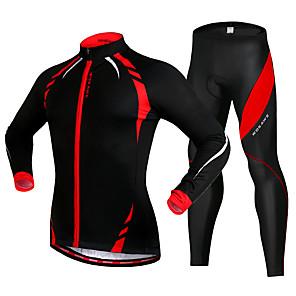 cheap Cycling Jersey & Shorts / Pants Sets-WOSAWE Men's Women's Long Sleeve Cycling Jersey with Tights Elastane Fuchsia Bike Sports Solid Color Mountain Bike MTB Road Bike Cycling Clothing Apparel