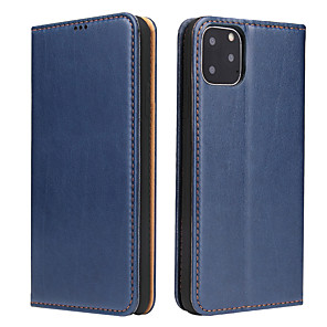 cheap iPhone Cases-Apple Case For iPhone7 8 7plus 8plus XR XS XSMAX X SE 11 11Pro 11ProMax Card Holder Shockproof Flip Full Body Cases Solid Colored PU Leather vintage