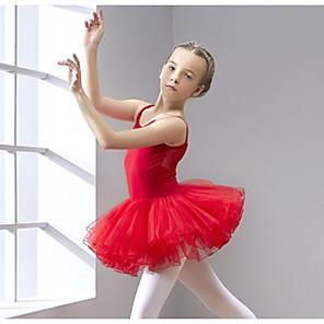 cheap Kids' Dancewear-Ballet Leotard / Onesie Solid Girls' Training Performance Sleeveless Natural Cotton