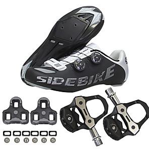 povoljno Obuća za vožnju biciklom-SIDEBIKE Odrasli Tenisice za biciklizam Obuća za cestovni bicikl Najlon, stakloplastika, otvori za protok zraka, neskliski omotač Anti-Slip biciklom na cesti Biciklizam / Bicikl Red / White Sliver