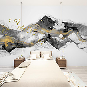 cheap Wall Murals-Art Deco   Landscape Home Decoration Modern Wall Covering smoke Canvas Material Adhesive required Wallpaper / Mural / Wall Cloth Room Wallcovering