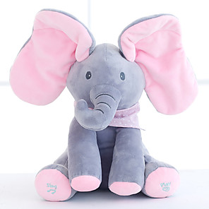 cheap Stuffed Animals-Electric Toys Stuffed Animal Plush Toy Elephant Gift Singing Interactive Flapping Ears PP Plush Imaginative Play, Stocking, Great Birthday Gifts Party Favor Supplies Boys and Girls Kid's Adults