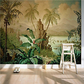 cheap Wallpaper-Art Deco  Custom Self Adhesive Mural Wallpaper Nostalgic Landscape Suitable For Bedroom Living Room Cafe Restaurant Hotel Wall Decoration Art