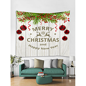 cheap Wall Tapestries-Christmas Weihnachten Santa Claus Wall Tapestry Art Decor Blanket Curtain Picnic Tablecloth Hanging Home Bedroom Living Room Dorm Decoration Merry Christmas Tree Happy New Year Gift Polyester