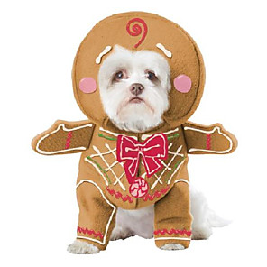 cheap Dog Collars, Harnesses & Leashes-gingerbread pup pet costume