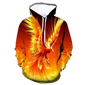 cheap 3D Night Lights-Men's Daily Hoodie Graphic Hooded Casual Basic Hoodies Sweatshirts  Orange