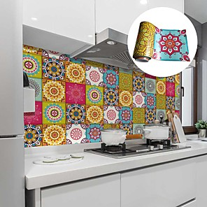 cheap Cleaning Protection-Creative Kitchen Oil and Waterproof Tile Stickers Self-adhesive Removable Moroccan Style Environmental Protection Wall Stickers