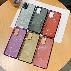 cheap Samsung Case-Case For Samsung Galaxy S9 S9 Plus S8 Plus S7 S7 Edge S8 S10 S10E S10 Plus S10 5G Glitter Shine Back Cover Glitter Shine TPU