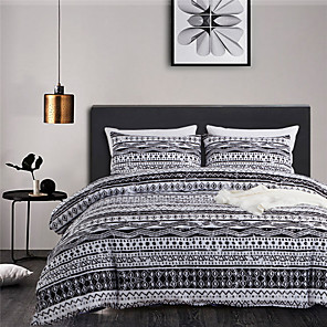 cheap Wallpaper-Bohemian Style 3-Piece Duvet Cover Set Hotel Bedding Sets Comforter Cover with Soft Lightweight Microfiber(Include 1 Duvet Cover and 1 or 2 Pillowcases)