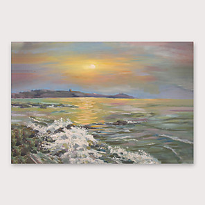 cheap Abstract Paintings-IARTS Hand Painted setting sun Oil Painting with Stretched Frame For Home Decoration With Stretched Frame